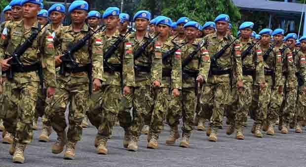 Satgas Garuda Laksanakan Renovasi Markas Tentara Kongo