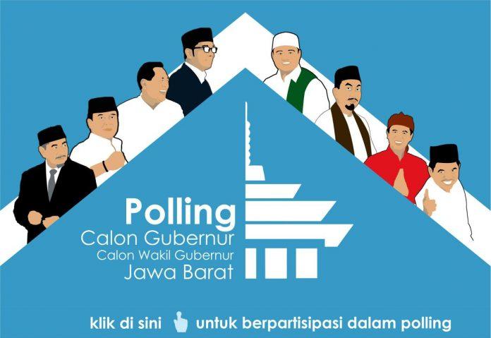Polling Cagub dan Cawagub Jabar